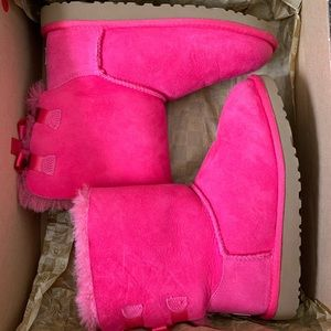 Girls K Bailey Bow Pink UGGs